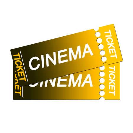isolated cinema tickets