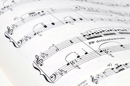 pentagramma musicale: Note di musica su un libro