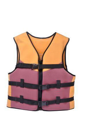 lifejacket: Isolated life jacket on white background Stock Photo
