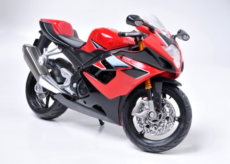 Model of sport red motorcycle