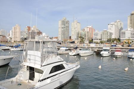 uruguay: Yachts in Punta del Este, Uruguay. Stock Photo