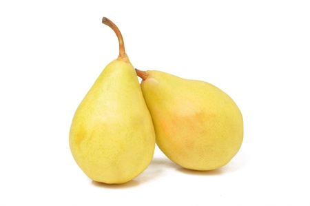Two pears isolated on white background.