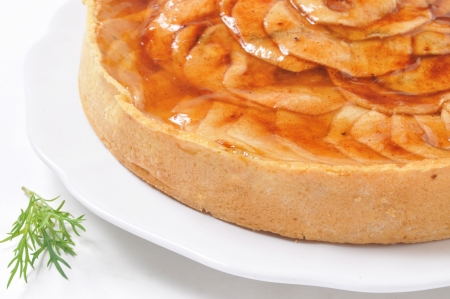 Close up of delicious apple pie