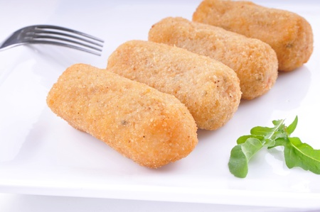 Delicious croquettes on a plate  Stock Photo