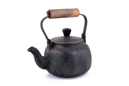 Antique kettle pot made of iron