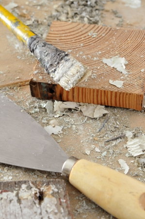 Close up of carpentry tools