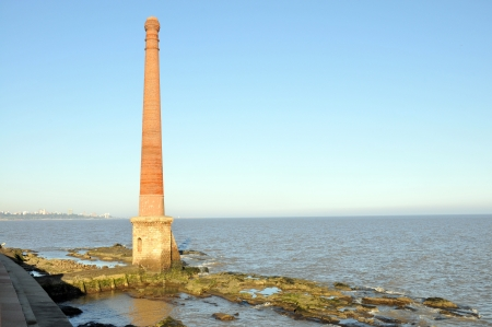 montevideo: Old tower made of bricks, in Montevideo, Uruguay Stock Photo