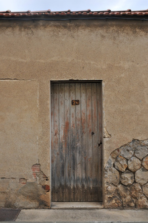 Door of old house in France Stock Photo