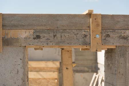 doorway: Concrete doorway in building house