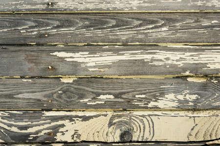 汚れた古い塗装天然木の羽目板背景