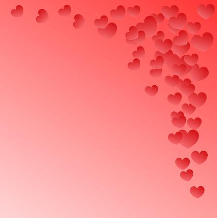 小さなシェーディハートを持つピンクの背景  イラスト・ベクター素材