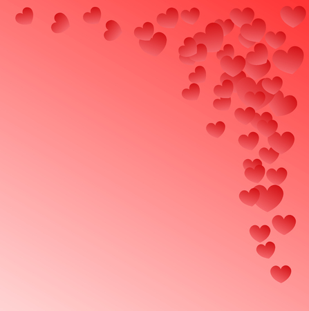 Pink background with small shaded hearts Ilustração