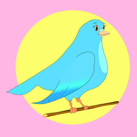 paloma caricatura: Un personaje de dibujos animados lindo paloma