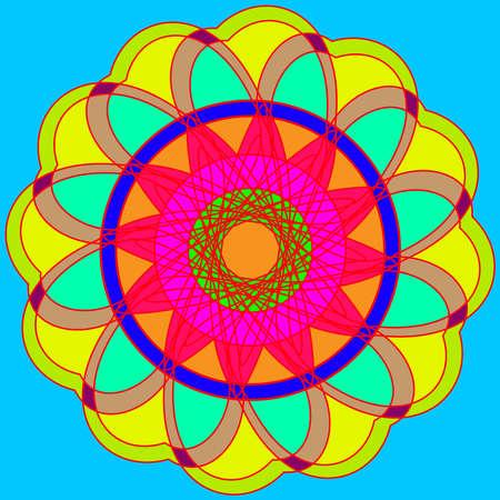 Abstract new multi color geometric fracral mandala.