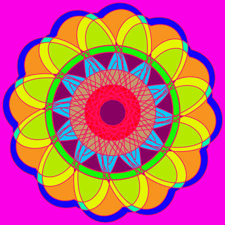vibrant background: Abstract new multi color geometric fracral mandala.