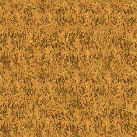 枯れた草は迷彩背景のシームレス パターンです。