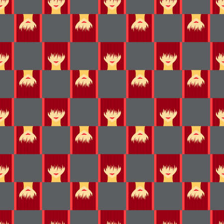 bob: Colorful stylized girl with face covered long bangs. Noface woman seamless pattern.