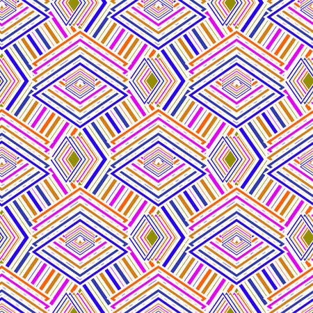 Multicolored geometric seamless rhombic pattern for background Illustration