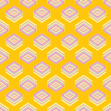 rhombic: Multicolored geometric seamless rhombic pattern for background Illustration