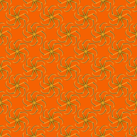 solstice: Kolovrat, or solstice - a Slavic symbol of the sun. Seamless pattern.