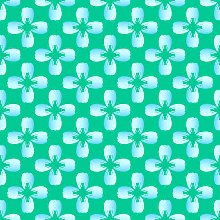 blue tooth: Flower blue tooth on the green seamless pattern.