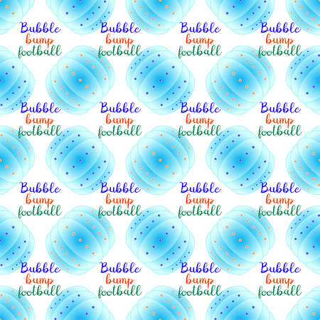bump: Bubble bump football equipment the seamless pattern. Illustration