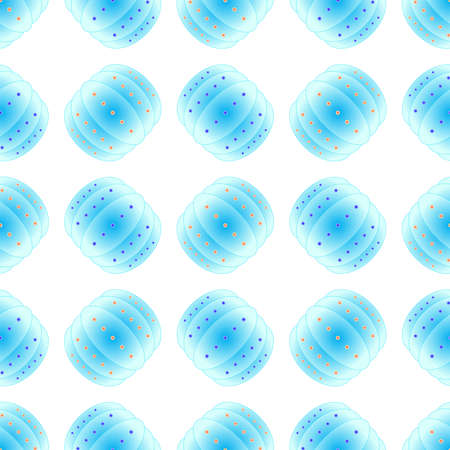 Bubble bump football equipment the seamless pattern. Illustration