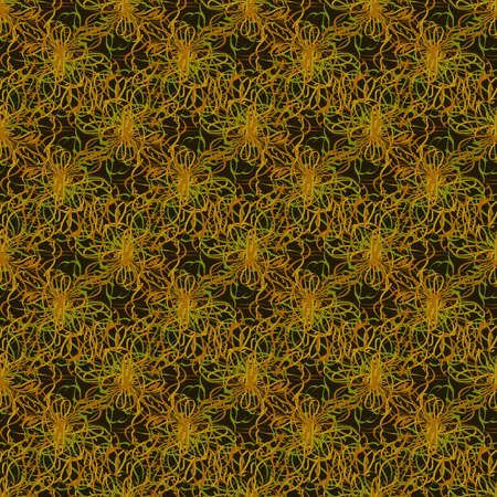 threads: Colorful seamless pattern of twisted threads and lines. Illustration
