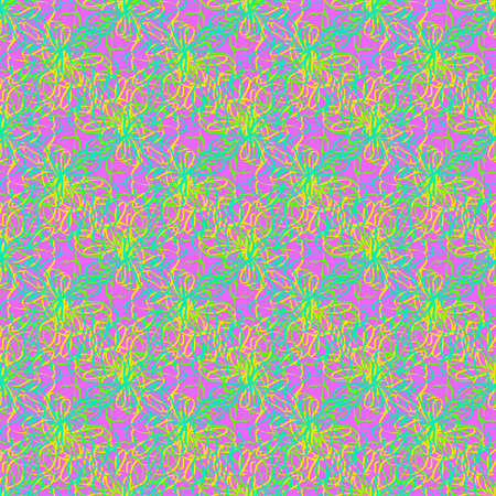 Colorful seamless pattern of twisted threads and lines. Illustration