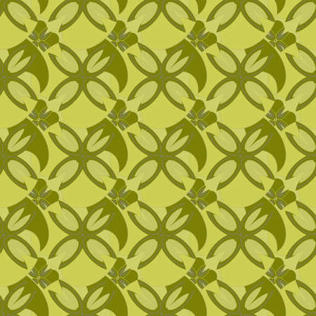associative: Abstract geometric seamless pattern in yellow colors.
