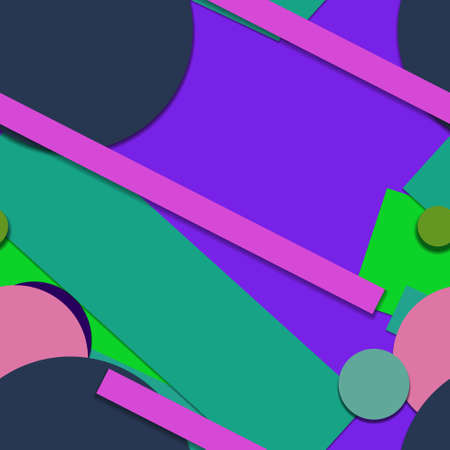 Flat material design - Creative vector trend seamless. Stockfoto - 119612828