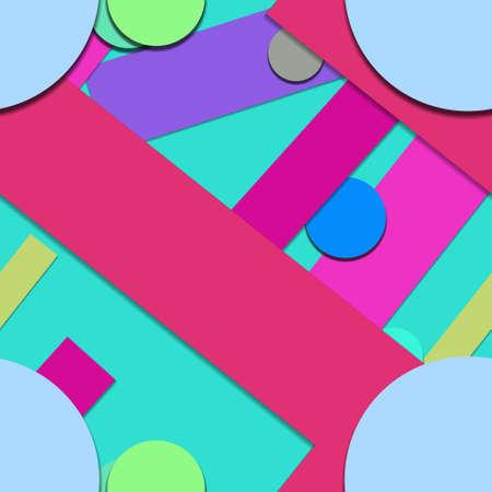 Flat material design - Creative vector trend seamless. Stockfoto - 119613081
