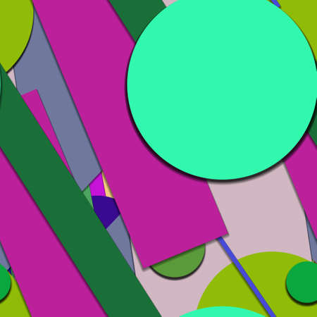 Flat material design - Creative vector trend seamless. Stockfoto - 119613185