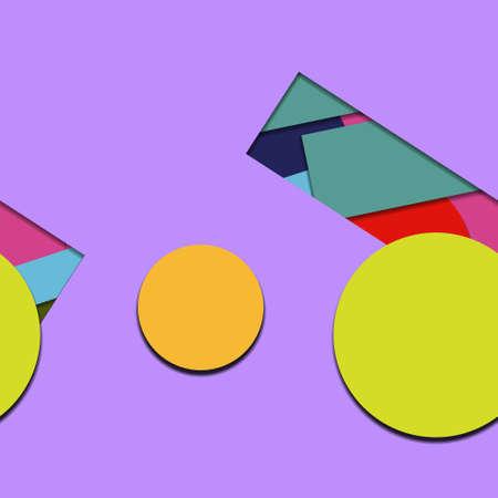 Flat material design - Creative vector trend seamless.