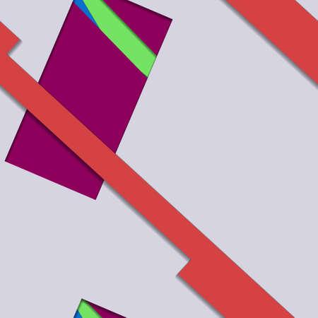 Diseño de material plano - Tendencia de vector creativo sin fisuras.