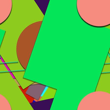 Flat material design - Creative vector trend seamless. Stockfoto - 121176789