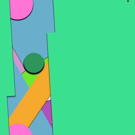 Flat material design - Creative vector trend seamless. Ilustracje wektorowe