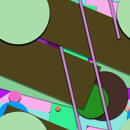 Flat material design - Creative vector trend seamless. Stockfoto - 123015308