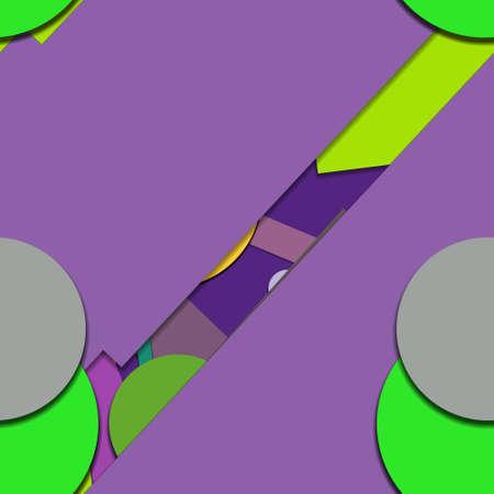 Flat material design - Creative vector trend seamless. Stockfoto - 122449571