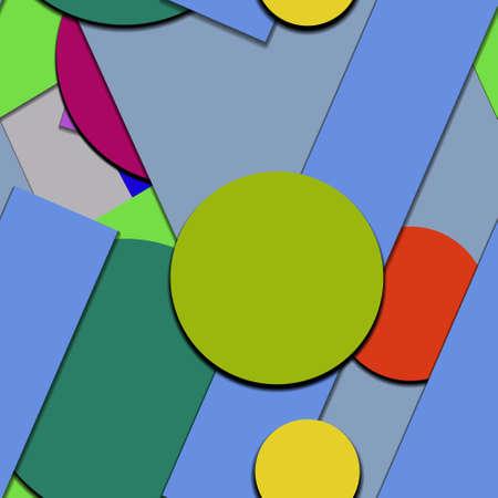 Flat material design - Creative vector trend seamless. Stockfoto - 122449593