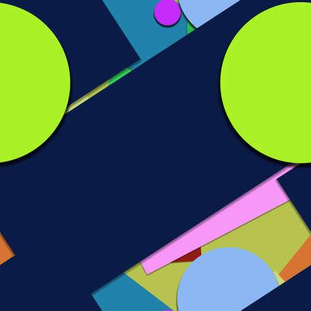 Flat material design - Creative vector trend seamless. Stockfoto - 122449649