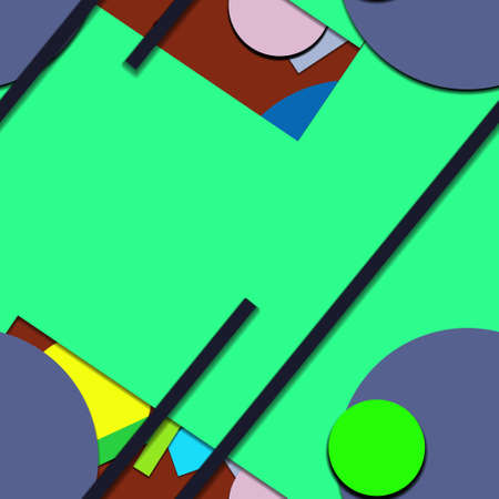Flat material design - Creative vector trend seamless. Stockfoto - 122449724