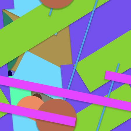 Flat material design - Creative vector trend seamless. Stockfoto - 125569753