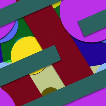Flat material design - Creative vector trend seamless. Stockfoto - 125569761