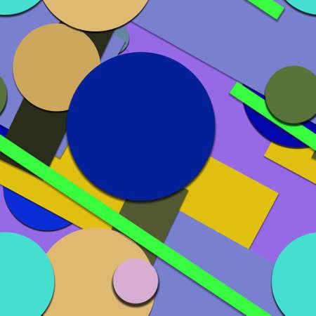Flat material design - Creative vector trend seamless. Stockfoto - 125569768