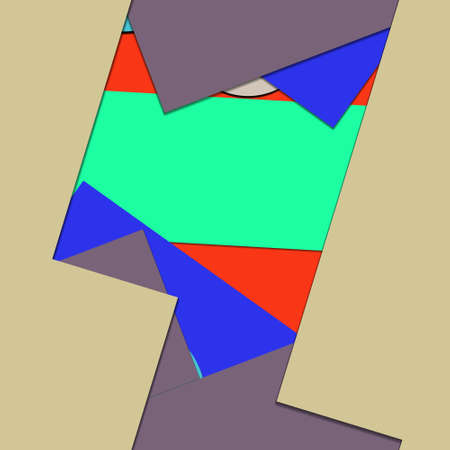 Flat material design - Creative vector trend seamless. Stockfoto - 125569804