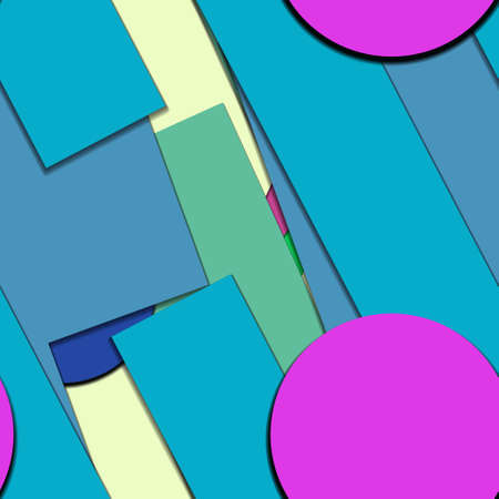 Flat material design - Creative vector trend seamless. Stockfoto - 122452447