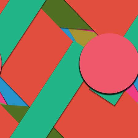 Flat material design - Creative vector trend seamless. Stockfoto - 122452554