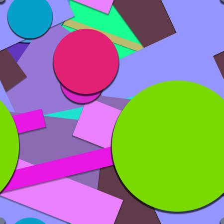 Flat material design - Creative vector trend seamless. Stockfoto - 125569835