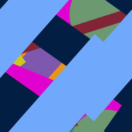 Flat material design - Creative vector trend seamless. Stockfoto - 125569843